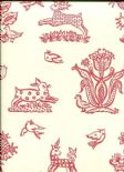 Celia Birtwell Classics Beasties Lipstick CBW172 Wallpaper By Blendworth
